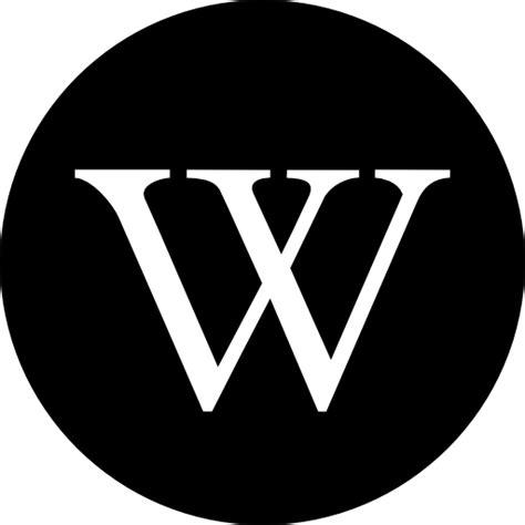 wikipedia logo  social icons
