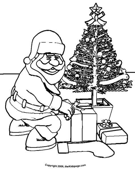 christmas tree with santa claus coloring page santa claus christmas tree free coloring pages for kids