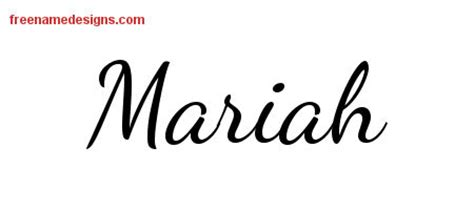 mariah archives free name designs
