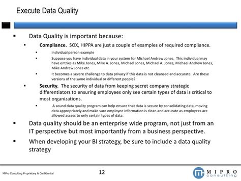 data quality strategy template building a bi strategy