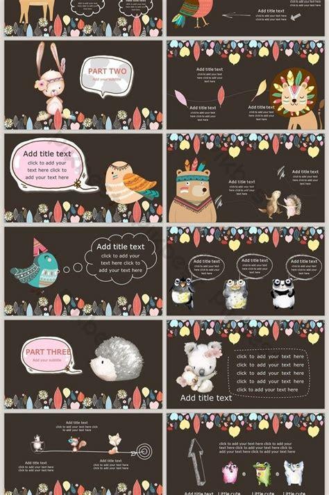cartoon animal colorful illustration  template