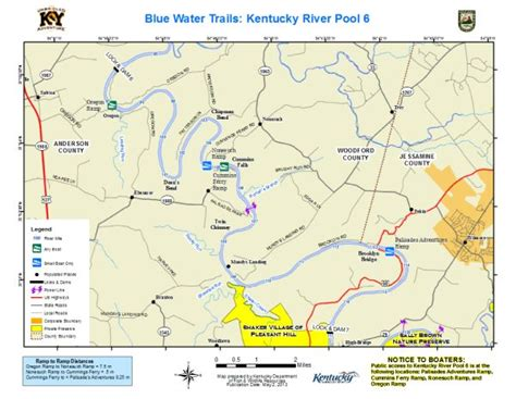 kentucky map with rivers kentucky department of fish wildlife kentucky river pool 6