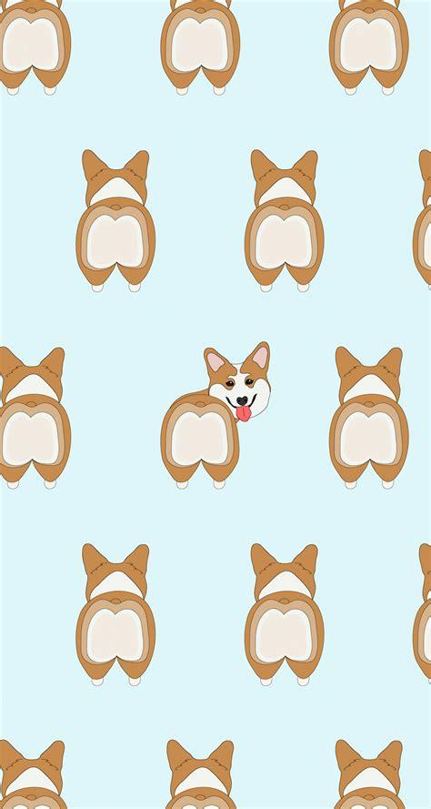 pattern lockscreen unik freebie dachshunds and corgis wallpaper corgis corgi