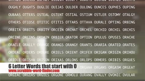 scrabble words starting with o 6 letter words that start with o