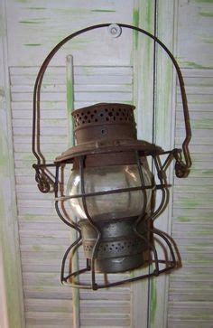 antique kerosene l globes l n railroad vintage railroad lantern with orange glass