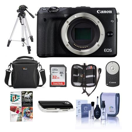 canon eos m3 mirrorless digital camera body, black with