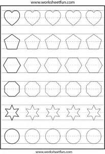 shape tracing templates 4 best images of free printable tracing shapes worksheets