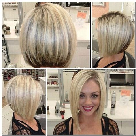 hair that is asymetric in back blonde inverted bob on pinterest dyed hair underneath
