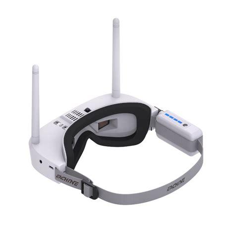 eachine ev100 720 540 5 8g 72ch fpv goggles with dual antennas fan 7 4v 1000mah battery
