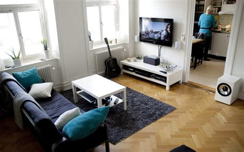 apartment setups scandinavian living room entertainment setups