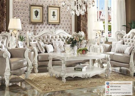 Kursi Tamu Rafi Ahmad gambar set ruang tamu duco mewah jepara mebel ukir