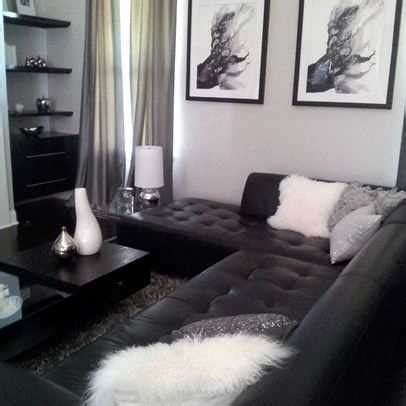 Decorating Room With Black Walls - living room decorating ideas with black leather furniture