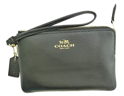 Coach Wristlet 2zip Black coach crossgrain leather corner zip wristlet black f54626imblk apparel accessories handbags