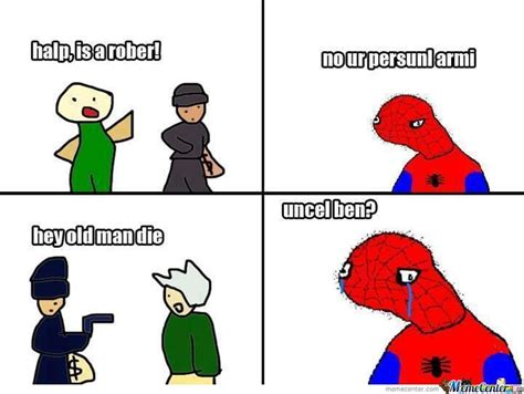 Spoderman Memes - the gallery for gt spoderman uncle ben