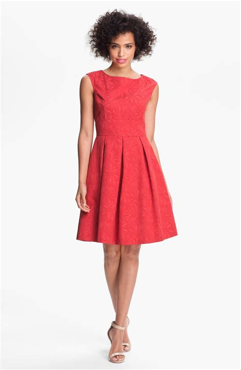 Dress Flare An papell floral jacquard fit flare dress