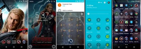 theme line android marvel dark version port cm12 1 s6 marvel aveng android