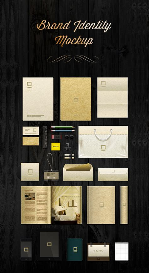 50 free branding identity stationery psd mockups
