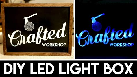 how to make a light box sign diy light box sign with lasers how to build youtube