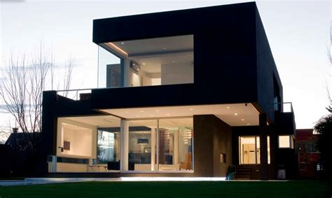 cool modern houses a black modern house in argentina