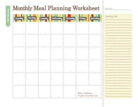 free printable weekly diet calendar 3 free printable meal planners meals