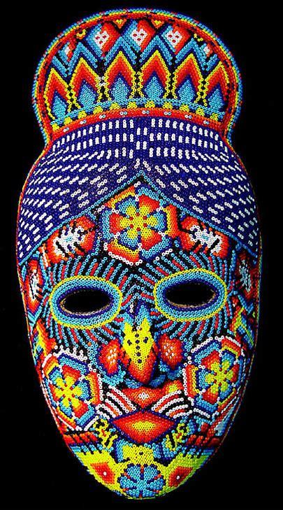 bead mask huichol beaded masks at mexico lindo mercado dsc04863