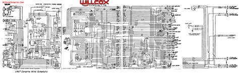 1967 corvette wiring diagram tracer schematic willcox