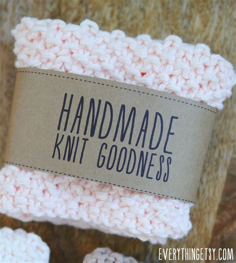 Tags For Handmade Crochet Items - free printable knit gift labels everythingetsy
