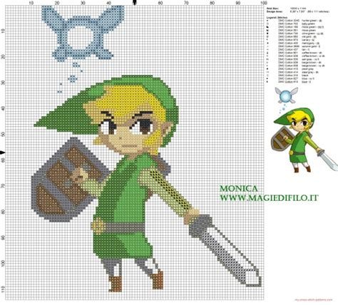 Zelda Cross Stitch Pattern | link and ciela the legend of zelda cross stitch pattern