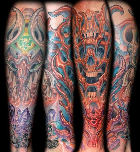 bio organic tattoo by marvin silva tattoos nature bio organic skull