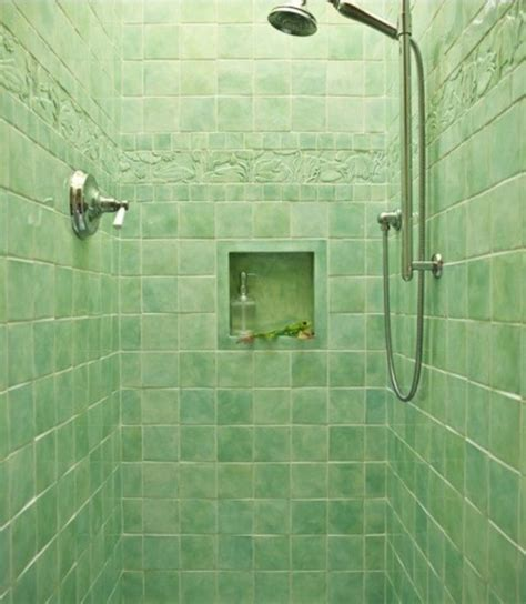 Fresh green shower room with green wall tiles dweef com bright and attractive interior design