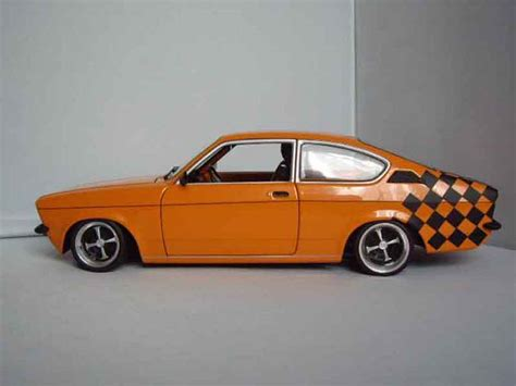 opel orange opel kadett coupe sr 1976 orange minichs diecast model