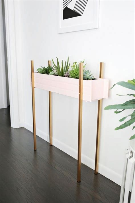 modern minimalist diy plant stands thatll transform