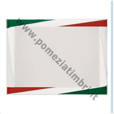 cornice tricolore pomezia timbri targa in alluminio argento satinato con