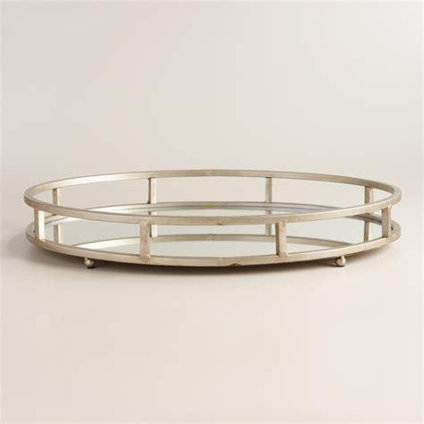 Mirror Tray silver mirrored serving tray world market