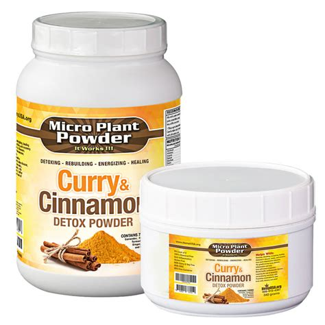 Detox With Hemp by Micro Plant Powder Curry Cinnamon Detox Hemp Usa