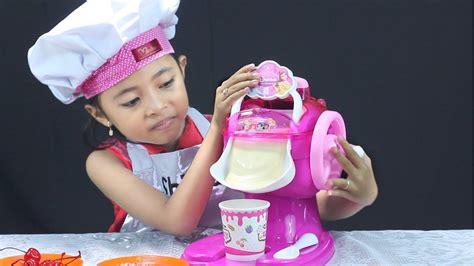 video membuat ice cream mainan unboxing mainan anak ice cream maker make your own ice