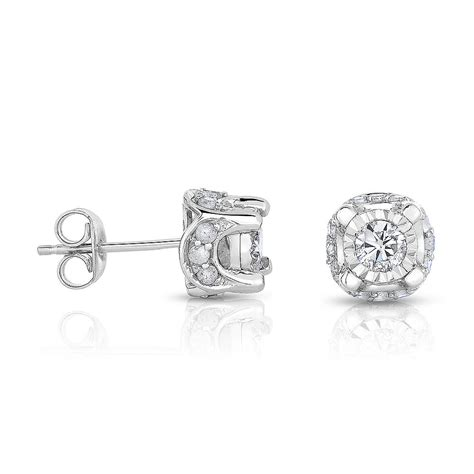 Harga Givenchy Pandora clear zircon 18k gold plated crown ear stud