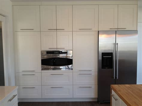 ikea off white kitchen cabinets gorgeous kitchen with floor to ceiling cabinets composed
