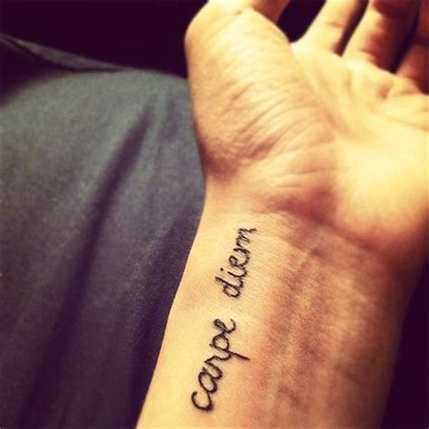 carpe diem wrist tattoo 100 creative carpe diem tattoos meanings 2017