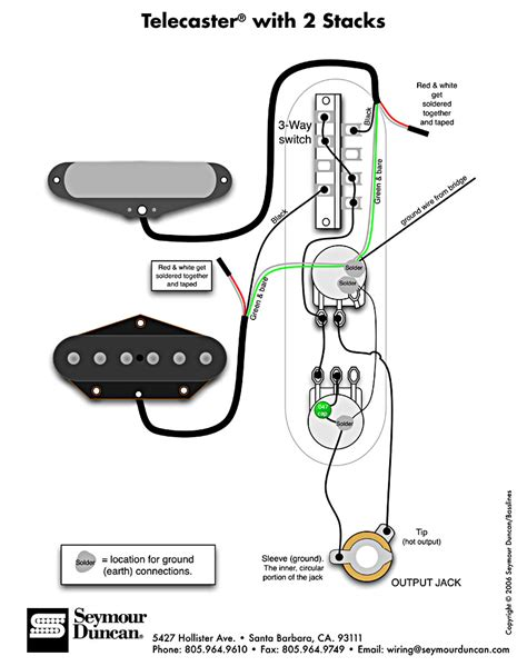 telecaster wiring diagram tech info