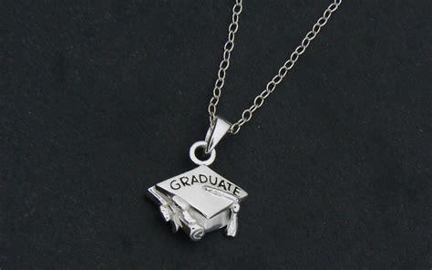 graduation charm necklace mortar board cap