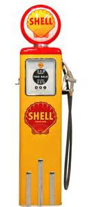 pompe 224 essence d 233 corative shell jaune et r 233 plique d