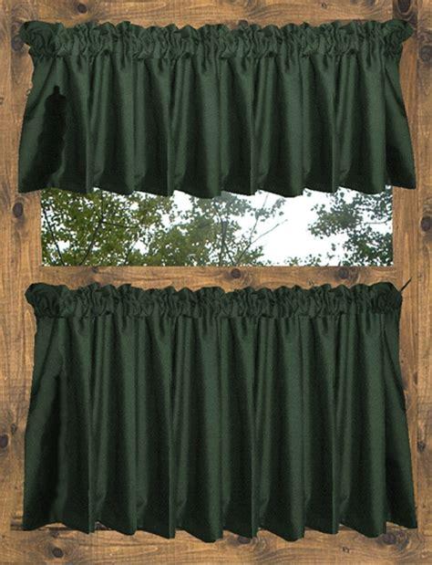 hunter green drapes hunter green tier curtains