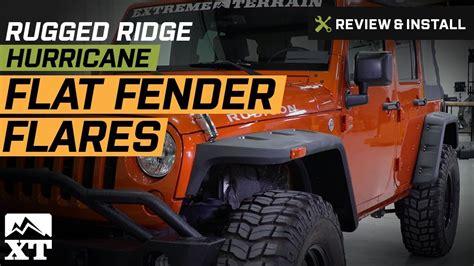 How To Install Rugged Ridge Fender Flares by Jeep Wrangler 2007 2017 Jk Rugged Ridge Hurricane Flat