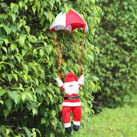 2pcs christmas santa claus parachute decorations christmas
