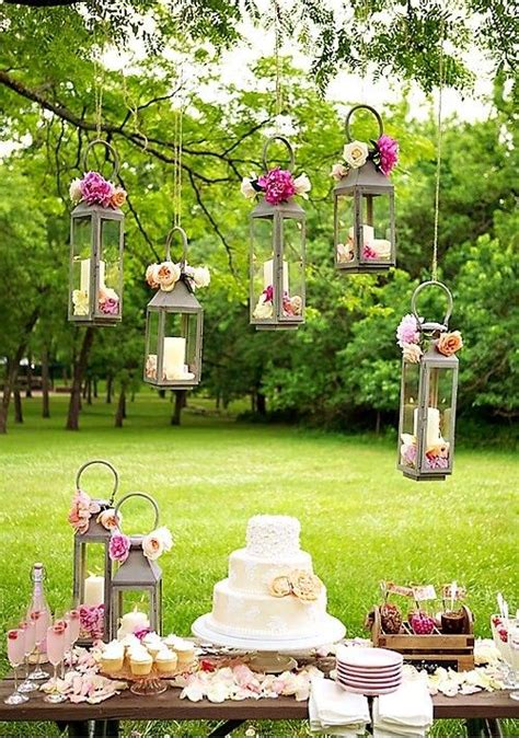 backyard wedding party chic wedding dessert table ideas gardens receptions and