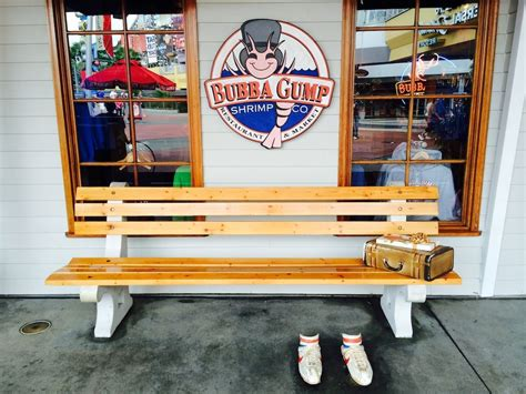 bubba gump bench bubba gump shrimp co restaurant market