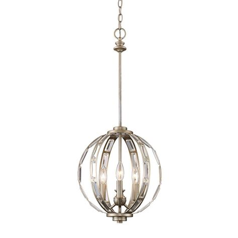 Silver Light Pendants Monteaux Lighting 3 Light Antique Silver And Pendant Lsa 36301 The Home Depot