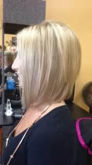 angled layered medium length haircuts medium length angled blonde bob makeup and hair pinterest