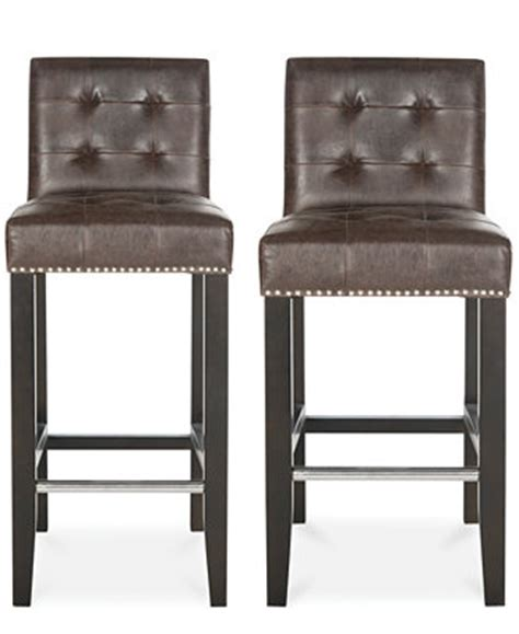 Hilfiger Bar Stools by Esmee Faux Leather Nailhead Bar And Counter Stools Direct